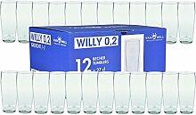 Van Well 24er Set Bierglas Willibecher 0,2L geeich