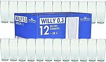 Van Well 24er Set Bierglas Willibecher 0,3L mit