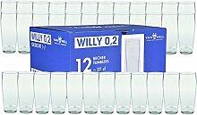 Van Well 36er Set Bierglas Willibecher 0,2L geeich