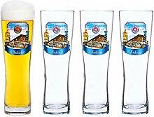 Van Well 4er Set Paulaner Weizenbierglas - 0,5