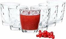 Van Well 6-tlg. Gläser-Set Silk Aqua | Bormioli