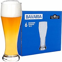 Van Well 6er Set Bavaria Weizenbiergläser klar |