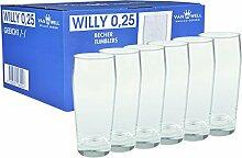 Van Well 6er Set Bierglas Willibecher 0,25l geeich