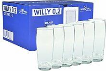 Van Well 6er Set Bierglas Willibecher 0,2L geeich
