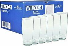 Van Well 6er Set Bierglas Willibecher 0,4l geeich