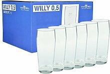 Van Well 6er Set Bierglas Willibecher 0,5l geeich