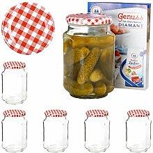 Van Well 6er Set Einkochgläser 720 ml Sturzglas