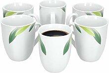 Van Well | 6er Set Kaffeebecher Siena | 300-350 ml