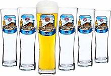 Van Well 6er Set Paulaner Weizenbierglas - 0,5