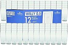 Van Well 96er Set Bierglas Willibecher 0,5l geeich