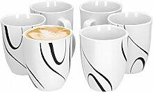 Van Well Galaxy 6er Set Kaffeebecher, 330 ml, H