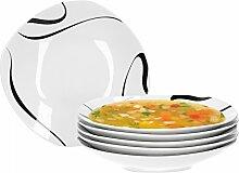 Van Well Galaxy 6er Set Suppenteller, Salatteller,