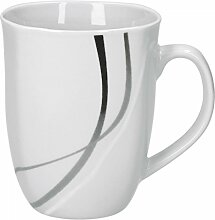 Einweg Kaffeetasse Henkeltasse 180 ml mit geschlossenem Griff PS braun Teetasse