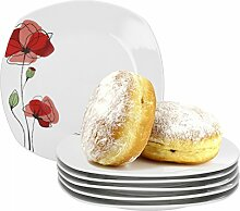 Van Well Monika 6er Set Frühstücksteller,