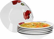 Van Well Monika 6er Set Suppenteller, Salatteller,