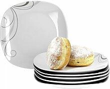 Van Well Portofino 6er Set Frühstücksteller,