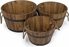 Vanage Holzbottiche aus Akazien-Holz FSC 100% |