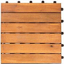 Vanage Holzfliesen 18-er Kachel Set, geeignet als