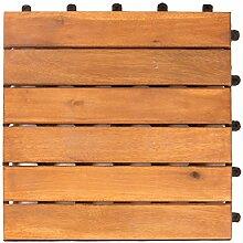 Vanage Holzfliesen 27-er Kachel Set, geeignet als