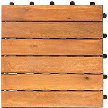 Vanage Holzfliesen 9-er Kachel Set, geeignet als