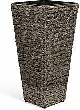 Vanage Kunststoff Pflanzkübel in grau -