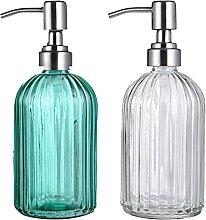 Vanblue Glas-Seifenspender-Flaschen, türkis,