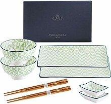 vancasso Midori Sushi Set, Porzellan japanische