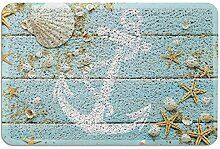 Vandarllin Anti-Rutsch-Fußmatte, rustikales Holz