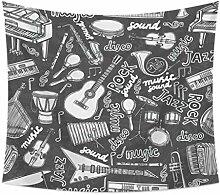 Vandelkt Cartoon Illustration Wandteppich Hängen