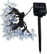 Vanker Solar LED Schmetterling Lichterkette Garten