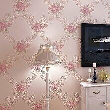 VanMe Continental Pastoral 3D Geschnitzte Große Non-Woven-Tapeten Wohnzimmer Schlafzimmer Esszimmer Kinder-Hintergrund-Tapete