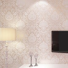 VanMe Die Europäische Non-Woven Wallpaper Schlafzimmer Voll Shop , Wohnzimmer Tv Hintergrund Tapete Tapete,7961 (Rosa)
