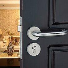 VanMe Edelstahl Innenraum Tür Europäisch Anmutende Holz Mit Griff Lock Sperrt Die Schlafzimmer Tür Schloss Hardware Sperr