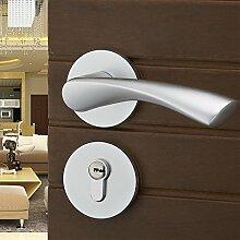 VanMe Einfache Europäischem Raum Aluminium Tür Aus Holz Innentüren Von Schlafzimmer Mechanischen Schlössern Real Atrium Lock Hardware Türschlösser