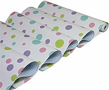 VanMe Einfache Farbige Punkte Kinder Selbstklebendes Tapete Wohnzimmer Schlafzimmer Fernsehhintergrund Tapete