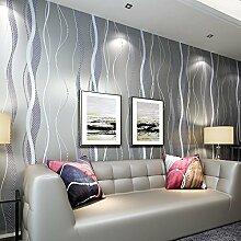 VanMe Einfache Metallischen Wellen Streifen Non-Woven Wallpaper Moderne Schlafzimmer Wohnzimmer Tv Hintergrund Tapete,12523 Branchen Mode Silber Lila
