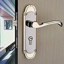 VanMe Europäische Holz Innentüren Stahl Holztür Lager Sperren Die Schlafzimmer Tür Schlösser Deluxe Griff Lock Hardware Türschlösser