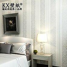 VanMe Kontinentale Kontrahierte Non-Woven-Tapete Wohnzimmer Tv Hintergrund-Wand Stripes Schlafzimmer-Tapete