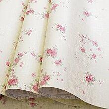 VanMe Selbstklebende Pvc-Tapete Koreanische Pastorale Tapete Blumenhintergrund Schlafsaal-Wohnzimmer-Schlafzimmer-Renovierung-Aufkleber