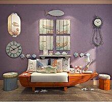 VanMe Umweltfreundliche Non-Woven Kinder Tapeten Einfach Kinder Sauber Farbe Wall-To-Wand Schlafzimmer Wohnzimmer Studie Hintergrund Tapete An Der Wand, Viole