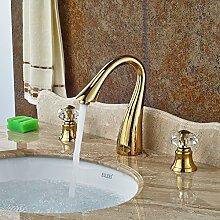 VanMe Waschtischmischer Elegante Schwan Bad Armatur Crystal Griffe Waschbecken Mischbatterie Waschbecken Wasserhahn Messing Gesicht Tippen