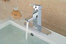 VanMe Waschtischmischer Moderner Square Messing verchromt Badezimmer Waschtisch Armatur Waschbecken Mischbatterie