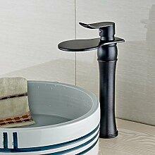 VanMe Waschtischmischer Öl eingerieben Bronze Badezimmer Waschtisch Armatur Waschbecken Mischbatterie Grossen Wasserfall Tippen