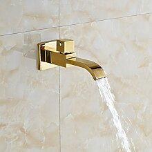 """VanMe Waschtischmischer Wasserfall Auswurfkrümmer goldenen Messing Wand Bad Badewanne Auswurfkrümmer Pool Hahn tippen Sie auf """"""""Neu"""