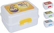 Vanorell 2X Brotdose für Kinder Eule Lunchbox