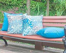 Vantextile 4 Stück /Set Kissenbezug / Kissenhüllen aus 100% Polyster für Sofa, Innenraum / Draußen( Gartenstühle), Weihnachts Dekoration,Wasserdicht, Kissenhülle mit Witterungwiderstand, Invisibler Reibungsverschluss, sichere und komfortable Kissenbezug 45x45cm, hellblau (ohne inneren Kissen bei Lieferumfang). Hand oder Maschine waschen.