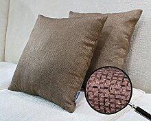 Vantextile Zier/Dekokissenbezüge modern Stil für Sofa, 100% Polyster Material, gasdurchlässig und farbfest, Muster beidseitig verfügbar. Invisibler Reißverschluss für Sicherungshüllung, Hand/Maschine waschen, 45x45cm, 2er / Pack, (ohne Kissen bei Lieferumfang).