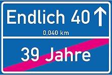 vanva Endlich 40 Jahre Ortsschild 40. Geburtstag