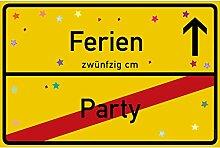 vanva Ferien Schild Ferien Party Schild gelb