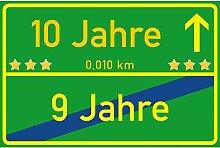 vanva Schild 10 Jahre Ortsschild 10. Geburtstag